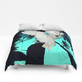 Cockatoo Bird at Sunset A314 Comforters