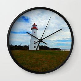 Point Prim Lighthouse and Shore Wall Clock