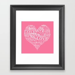 Pink heart Framed Art Print