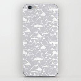 Mountain Scene in Grey iPhone Skin