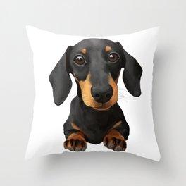 Cute Sausage Dog Throw Pillow