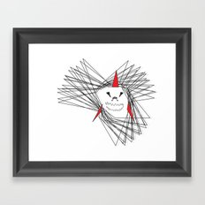 When Sharks Attack Framed Art Print