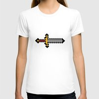 sword T-shirts featuring Pixel Sword... by Totally Glitching