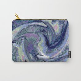 Blue Marble Abstract  Background Carry-All Pouch