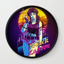 black lagoon retro Wall Clock