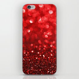 Ruby Red Disco Glitter & Sparkles iPhone Skin