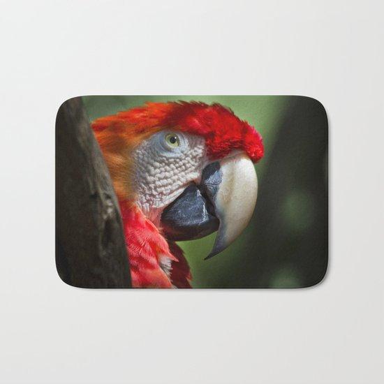 Scarlet Macaw Bath Mat
