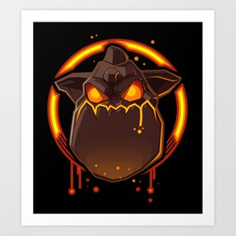 Clash of Clans LAVA HOUND Art Print