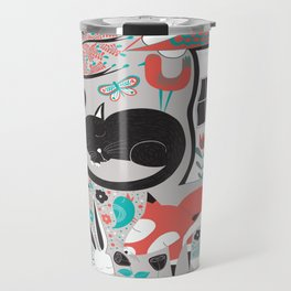 Sleepy Forest Creatures Travel Mug