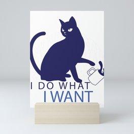 rebel cat  Mini Art Print