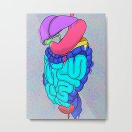 Graffiti Guts Metal Print