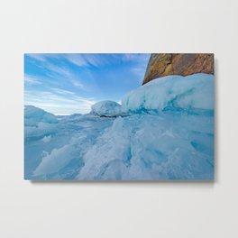 Ice and rock of Baikal Metal Print