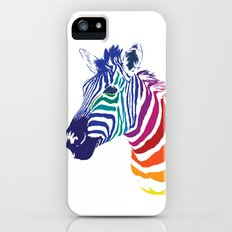 Rainbow Zebra Colorful Animal iPhone (5, 5s) Slim Case