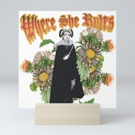 Melonie: Victorian Flower Series, Where She Rules Mini Art Print