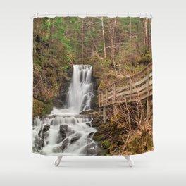 Dickson Boardwalk Falls Shower Curtain