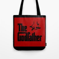 the godfather Tote Bags featuring The Godfather by SwanniePhotoArt