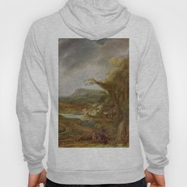 Stolen Art - Landscape with an Obelisk by Govert Flinck Hoody