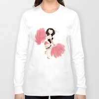 burlesque Long Sleeve T-shirts featuring Burlesque Bombshell by Stasia B