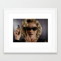 river song Framed Art Prints featuring River Song (Doctor Who) by San Fernandez