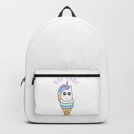 Cute Unicorn Ice Cream Cone Unicone Scoop Backpack