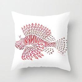Tribal Lionfish Throw Pillow