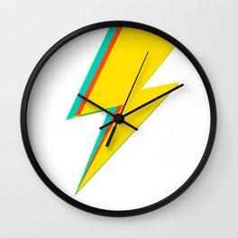Lightning bolt (yellow Version) Wall Clock