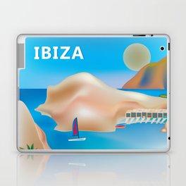 Ibiza, Spain - Skyline Illustration by Loose Petals Laptop & iPad Skin