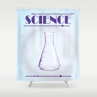 science Shower Curtains featuring Science! by ObeyMyBrain
