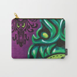 """Disneyland Haunted Mansion inspired """"Wall-To-Wall Creeps No.3""""  Carry-All Pouch"""