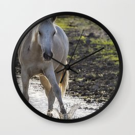 Traveler Making a Splash Wall Clock
