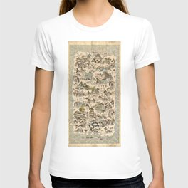 Qiong Jun di yu quan tu (Hainan Sheng Map, China 1836) T-shirt