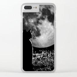 Lunar cat Clear iPhone Case