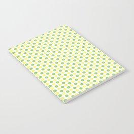 Yellow Lemon Green Fruit Pattern Notebook