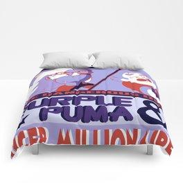 Purple Puma & Tiger Millionaire! Comforters