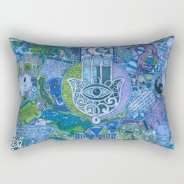 """The maddening curiosity & fantasy of curing the earth morally & ethically"" Rectangular Pillow"