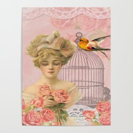 Vintage Victorian Beauty Poster