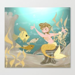 Yellow finned friends Canvas Print