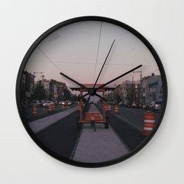 endless construction on girard Wall Clock