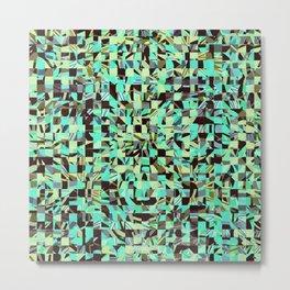 WILD THING GEO PATTERN BLUE GREEN Metal Print