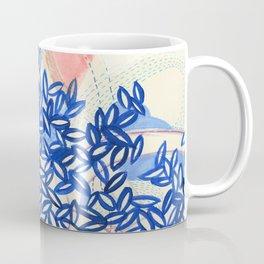 Cobalt Leaves Coffee Mug