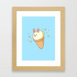 Bunny-lla Ice Cream Framed Art Print
