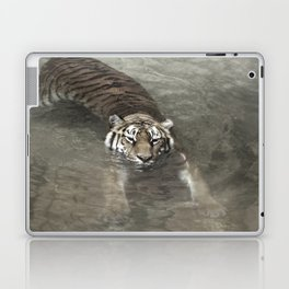 Tiger Lazing in the Water Laptop & iPad Skin