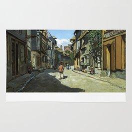 Rue de la Bavole Honfleur - Claude Monet - 1864 Rug