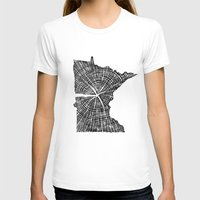 tree rings T-shirts featuring Minnesota Tree Rings by Wolf's Head Craftworks