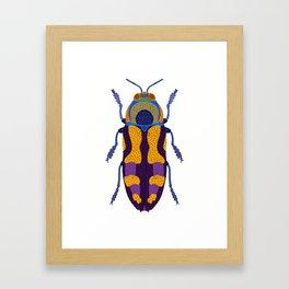 Purple and Blue Beetle Framed Art Print
