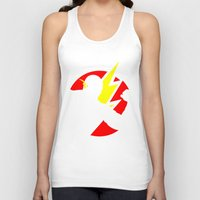 the flash Tank Tops featuring Flash by Sport_Designs