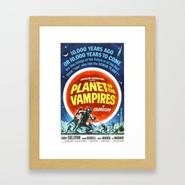 Planet of the Vampires, 1965 (Vintage Movie Poster) Framed Art Print