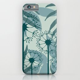 Dandelions leaves pattern pastel green #society6 iPhone Case