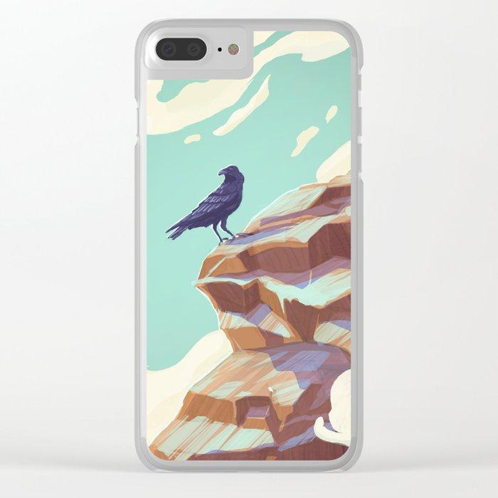 Alpine Crow Clear iPhone Case