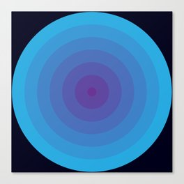 Bullseye in Blue Canvas Print